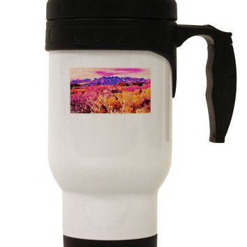 Colorful Colorado Mountains Stainless Steel 14oz Travel Mug by TooLoud