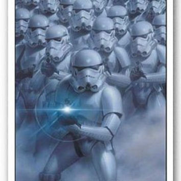 2015 Movie STAR WARS Stormtroopers Empire Poster Wall Sticker 22x34 inch