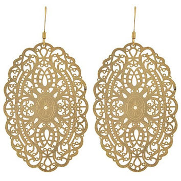 Matte Gold Lace Earrings