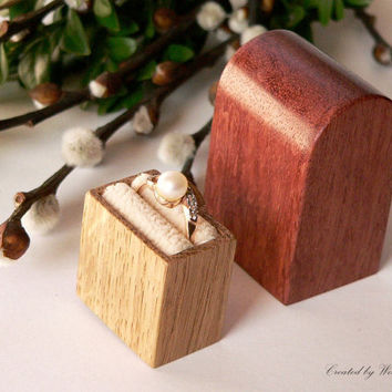 Engagement ring box  original Woodstorming design by Woodstorming