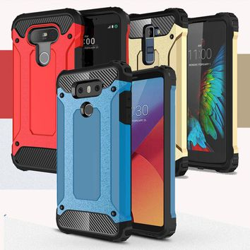 Rugged Rubber Armor Case For LG G5 G6 K4 K5 K7 K8 K10 Hybrid Silicone Cover For LG K10 Case For LG K8 Case Cover For LG G6 Cases