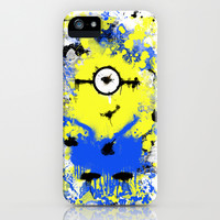 Splatter Painted Minion  iPhone & iPod Case by Trinity Bennett