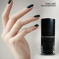 High Quality Black Matte Nail Art Dull Nail Polish 15ml H15