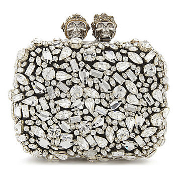 ALEXANDER MCQUEEN Swarovski small knuckle clutch