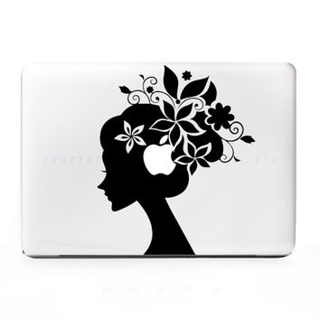 Flower Girl Sticker Decal for Mac Laptops, PC, iPad, iPhone, & More. Over 15 Colors to Choose from!