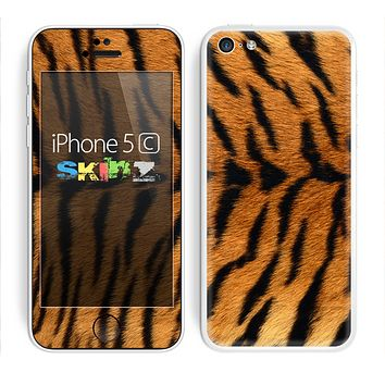 The Real Tiger Print Texture Skin for the Apple iPhone 5c
