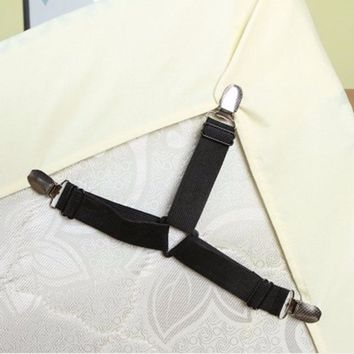Bed Sheet Fasteners Anti-skid bedding set Nylon Tablecloths Tent Fixed Clip 4pcs Elasticized Buckle Clasp Bedspreads