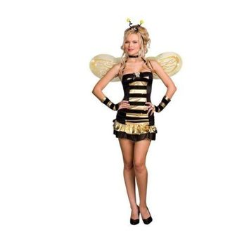 Sexy Game Garment Cosplay with Wings Cute Bee Dress-up