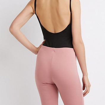Scoop Neck Open Back Bodysuit | Charlotte Russe