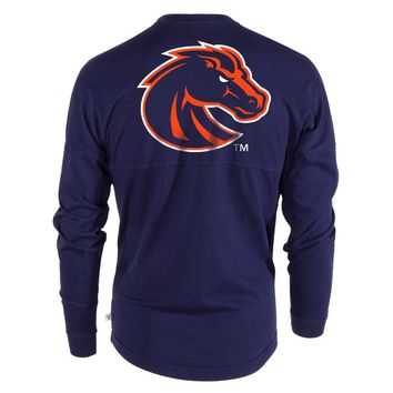 Official NCAA Boise State Broncos BSU Buster Bronco Women's Long Sleeve Spirit Wear Jersey T-Shirt