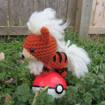 Made to Order - Chibi Pokemon Amigurumi - Growlithe