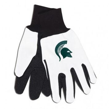 Michigan State Spartans - Adult Two-Tone Sport Utility Gloves