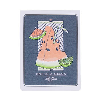 One in a Melon Sticker by Lily Grace