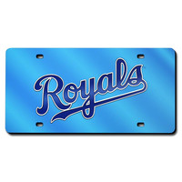 Kansas City Royals MLB Laser Cut License Plate Cover