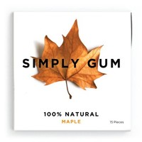 Simply Gum, Maple Natural Chewing Gum, 6 Pack, 90 Pieces