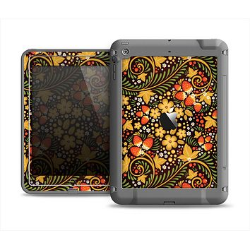 The Colorful Floral Pattern with Strawberries Apple iPad Mini LifeProof Fre Case Skin Set