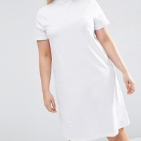 ASOS Curve | ASOS CURVE T-Shirt Dress With High Neck at ASOS