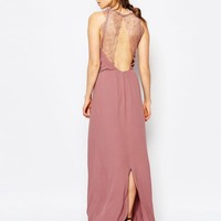 Samsoe & Samsoe Willow Maxi Dress with Lace Insert at asos.com