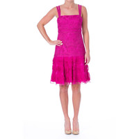 Sue Wong Womens Embroidered Detail Sleeveless Cocktail Dress