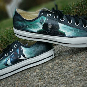 Arrow Inspired Hand Painted Canvas Shoes