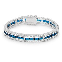 Chante Sapphire Radiant Cut CZ Tennis Bracelet - 7.25in | 32ct