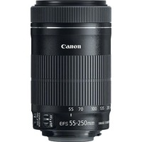 Canon - EF-S 55-250mm f/4-5.6 IS STM Telephoto Zoom Lens for Select Canon Cameras - Black