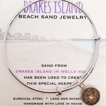 Drakes Island Beach Sand Jewelry, Maine Sand Jewelry, Beach Sand Jewelry, Sand Jewelry, Summer, One of a Kind Gift, Made in Maine