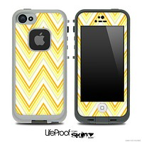 Bright Yellow Chevron Pattern V3 Skin for the iPhone 5 or 4/4s LifeProof Case