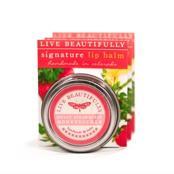 Strawberry Honeysuckle - Hydrating Lip Balm Tin