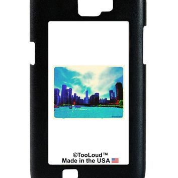 Chicago Skyline Watercolor Galaxy Note 2 Case  by TooLoud