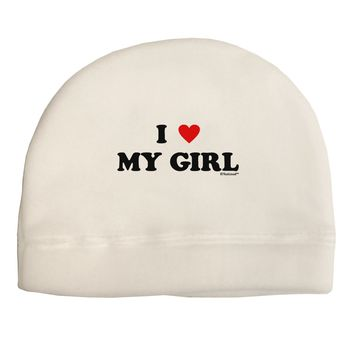 I Heart My Girl - Matching Couples Design Adult Fleece Beanie Cap Hat by TooLoud