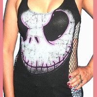 The Nightmare Before Christmas Jack Skellington Custom DIY Halter Top