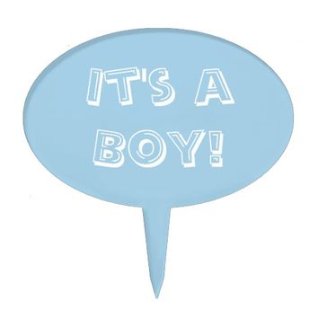 It's a Boy Powder Blue Cake Topper