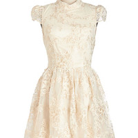ModCloth Fairytale Mid-length Cap Sleeves Fit & Flare Ado You Love Me? Dress