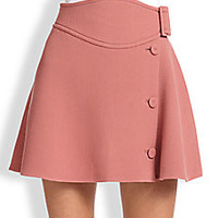 Carven - Wool Buttoned-Side Skirt - Saks Fifth Avenue Mobile
