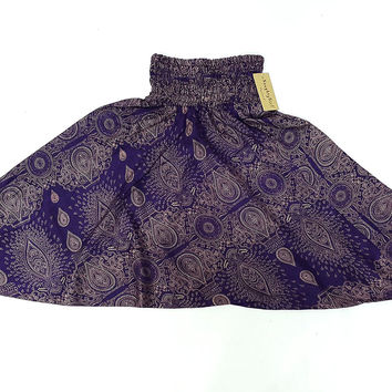 KIDS SIZE 7-8yrs Unisex Kids Pants Yoga Purple, Aladdin Pants Boho Pants Gypsy Rayon Paisley Purple (HP190)