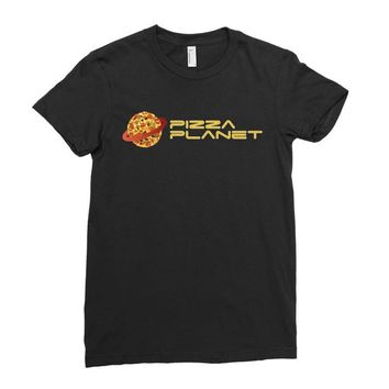 Pizza Planet Ladies Fitted T-Shirt