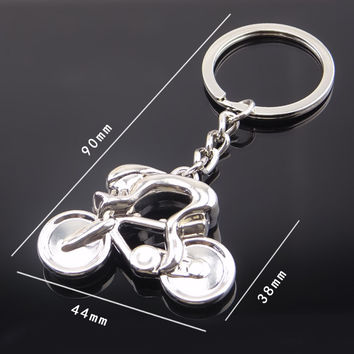 Fashion metal Sporty casual man Road Bicycle Figure Keychain Keyring Trinket Souvenirs Creative For Bike Cycling Lover Biker