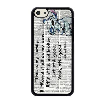lilo and stitch quotes disney iphone 5c case cover  number 1