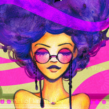 Purple Haze Over Haight Ashbury Limited Edition Poster Print