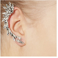 Beady Full Ear Shattered Glass Ear Cuff (1 Piece)