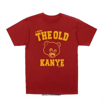 Men T shirt Kanye West I Miss the Old Kanye College Dropout funny t-shirt novelty tshirt women