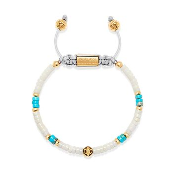 Heishi Bead Collection - White, Turquoise and Gold