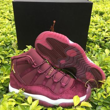 ... 11 Velvet Heiress Flower Pattern Men Basketball Shoes. Air Jordan 11  Velvet Heiress Flower Pattern Men Basketball Shoes 11s Velvet Wine Red  Night Maroon ... c811eec65