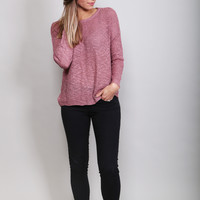 Mary In Mauve Lightweight Sweater
