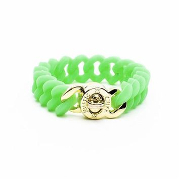Rustic Cuff Girls Madi- Green with Gold