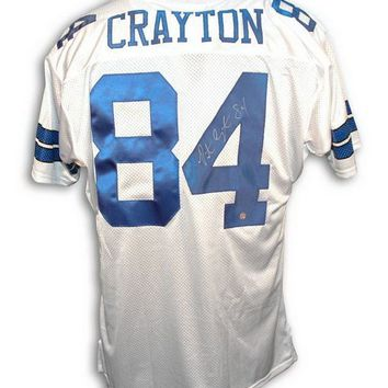 Patrick Crayton Autographed Throwback Jersey Dallas Cowboys