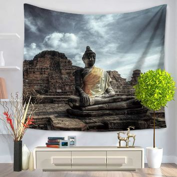 Buddha Tapestry Tapestries Boho Bedspread Beach Towel Yoga Mat Blanket Table Cloth 200*150/150*130