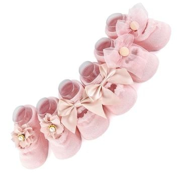 3 Pair/lot Cotton Lace Infant Baby Socks for Newborns Girls Socks Princess Birthday Gifts for Baby Clothing Toddler 1-3T