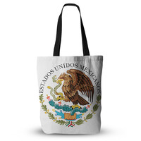 "Bruce Stanfield ""Mexico Emblem"" Brown White Everything Tote Bag"